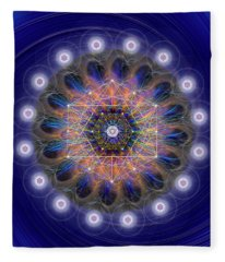 Sacred Geometry 726 Fleece Blanket