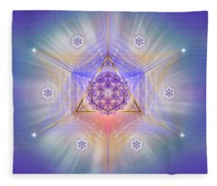 Sacred Geometry 734 Fleece Blanket