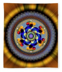Sacred Geometry 740 Number 1 Fleece Blanket