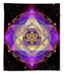 Sacred Geometry 741 Fleece Blanket