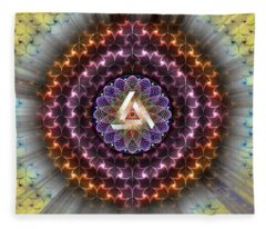 Sacred Geometry 742 Fleece Blanket