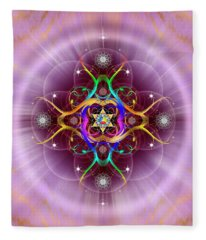 Sacred Geometry 757 Fleece Blanket