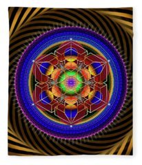 Sacred Geometry 763 Fleece Blanket
