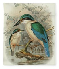 Sacred Kingfisher Fleece Blanket