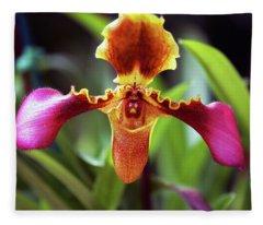 Sad Orchid Fleece Blanket