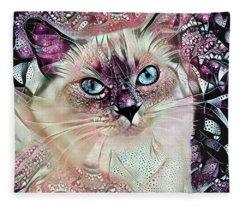 Sadie The Ragdoll Cat Fleece Blanket