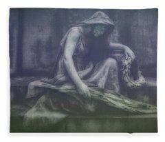 Sadness And Sorrow Fleece Blanket