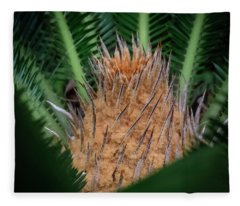 Sago Palm Fleece Blanket