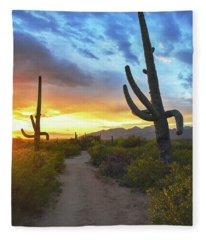 Saguaro Trail Fleece Blanket