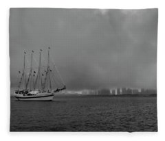 Sail In The Fog Fleece Blanket