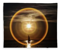 Sail In The Halo Fleece Blanket