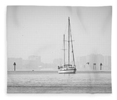 Sail Out Of Sarasota Fleece Blanket