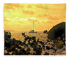 Sail The Manatee River Fleece Blanket