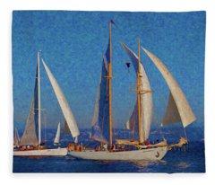 Sailboats 17 Fleece Blanket