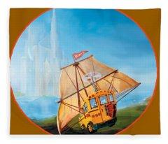 Sailbus Fleece Blanket