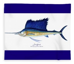 Sailfish Fleece Blanket