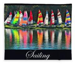 Sailing Art Fleece Blanket