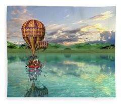 Sailing Away Daydream Steampunk Custom Fleece Blanket