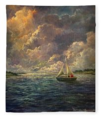 Sailing The Divine Light Fleece Blanket