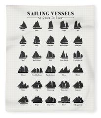 Sailing Vessel Types And Rigs Fleece Blanket