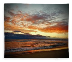 Early Autumn Morning Fleece Blanket