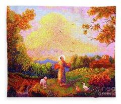Saint Francis Of Assisi Fleece Blanket