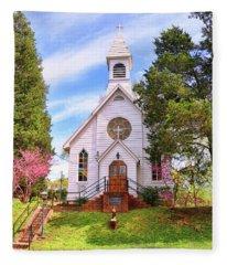 Saint Joseph Roman Catholic Church In Columbia Virginia Fleece Blanket
