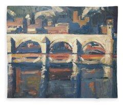 Saint Servaas Bridge And Sappi Fleece Blanket