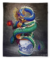 Sake Dragon Fleece Blanket