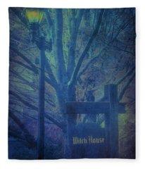 Salem Massachusetts  Witch House Fleece Blanket