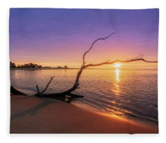Salisbury Beach Sunrise Fleece Blanket