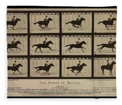 Sallie Gardner At A Gallop - Horse In Motion Fleece Blanket