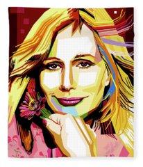 Sally Kellerman Fleece Blanket