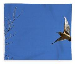 Sally Out The Woodcock Fleece Blanket