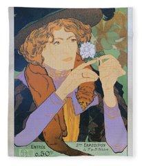 Salon Des Cent, 1894 Vintage French Poster Fleece Blanket
