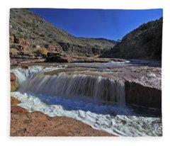 Salt Falls Fleece Blanket
