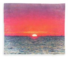 Salty Sunrise Fleece Blanket