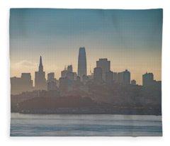 San Francisco California Cityscape Fleece Blanket