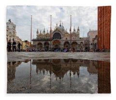San Marco Cathedral Venice Italy Fleece Blanket