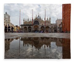 San Marco Cathedral Venice Italy Fleece Blanket