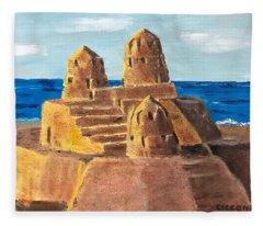 Sand Castle Fleece Blanket