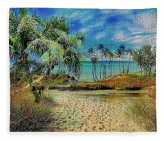Sand To The Shore Montage Fleece Blanket