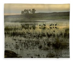 Sandhill Serenity Fleece Blanket