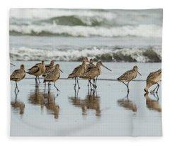 Sandpipers Piping Fleece Blanket