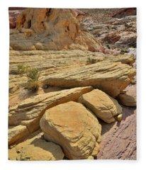 Sandstone Shapes Of Valley Of Firee Fleece Blanket