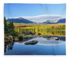 Sandy Stream Pond Baxter Sp Maine Fleece Blanket
