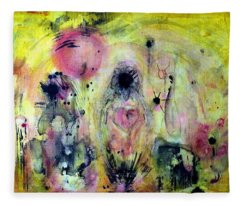Fleece Blanket featuring the painting Sanguine by 'REA' Gallery