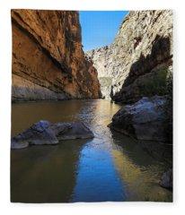 Santa Elena Canyon And Rio Grande River Fleece Blanket