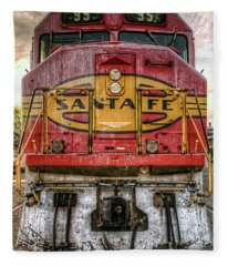 Santa Fe Train Engine Fleece Blanket