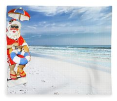 Santa Lifeguard Fleece Blanket